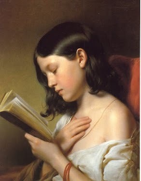 Franz Ebyl  Fanciulla che legge 1850