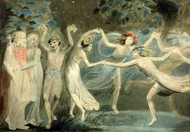 375px-Oberon,_Titania_and_Puck_with_Fairies_Dancing._William_Blake._c.1786