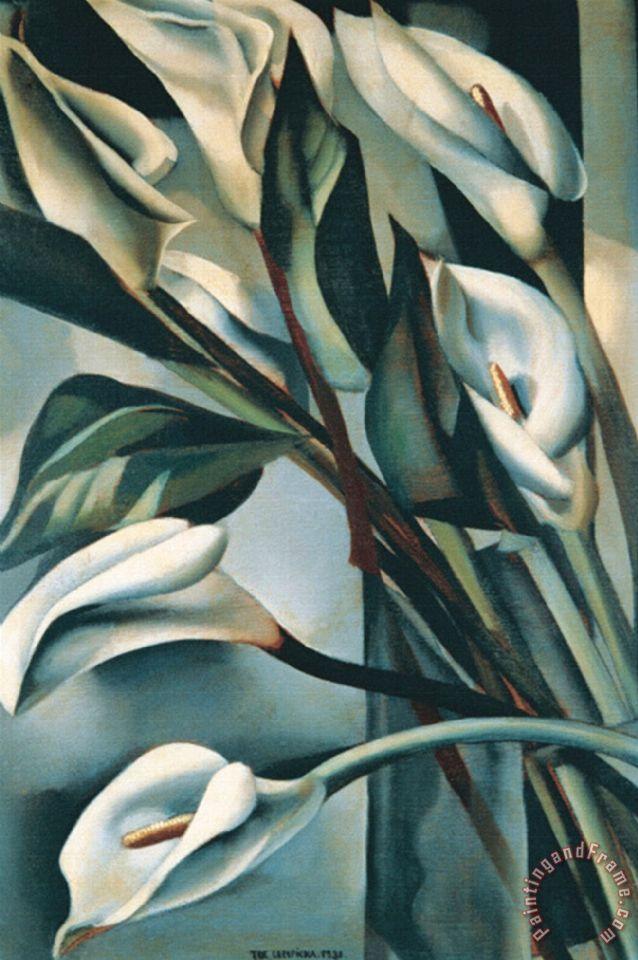 Arums Ii Painting by tamara de lempicka; Arums Ii Art Print for sale